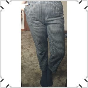 Black and tan pattered high waist pants